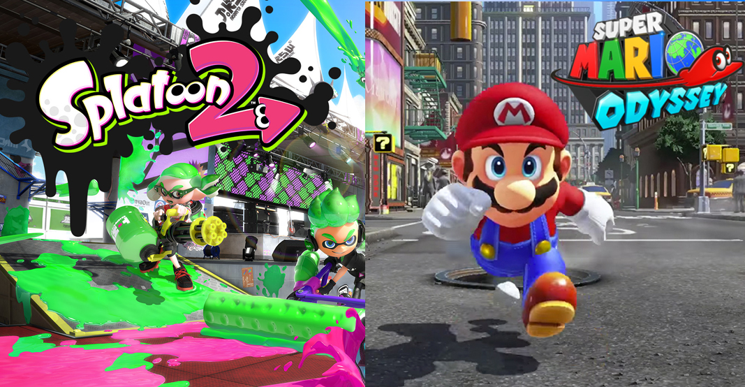 mario and splatoon